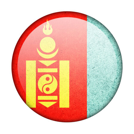 Mongolia button flag photo
