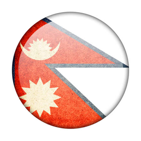 Nepal button flag photo