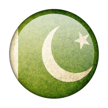 Pakistan button flag photo