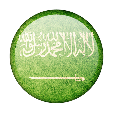 Saudi Arabia button flag photo