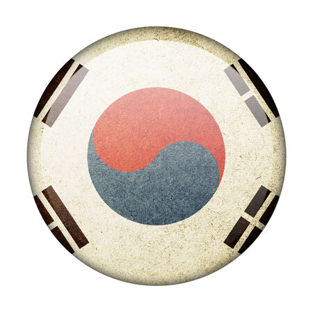 South Korea button flag photo