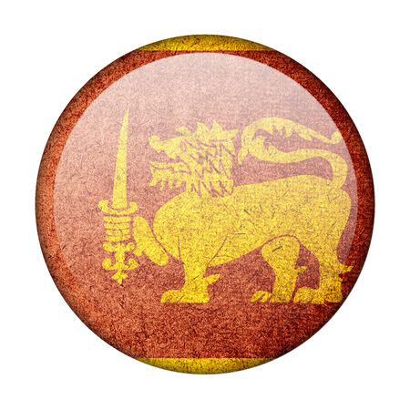 Sri Lanka button flag Stock Photo - 23933506