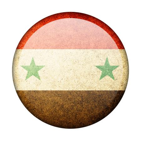 Syria button flag photo