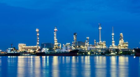 petrochemical: Oil refinery at twilight,petrochemical industry