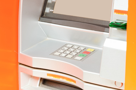automated teller: Keypad of an automated teller machine