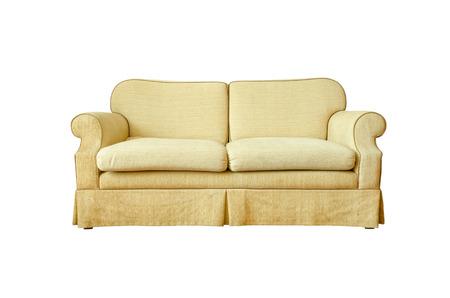 white sofa: sofa isolated on white Stock Photo
