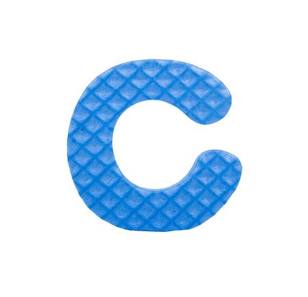 isolation: Alphabet Puzzle Pieces on White Background