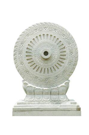 bouddhisme: roue du Dhamma du bouddhisme Banque d'images
