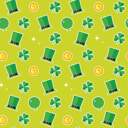 irish culture: A seamless pattern of the Saint Patricks Day theme.