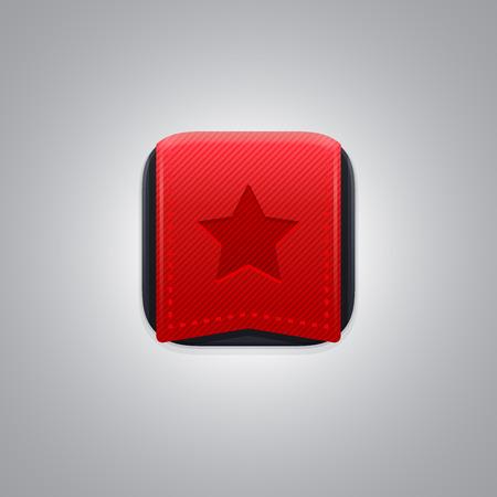 transparencies: Application bookmark icon. EPS 10. RGB. Transparencies