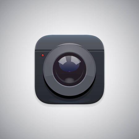 transparencies: Application photo camera icon. EPS 10. RGB. Transparencies