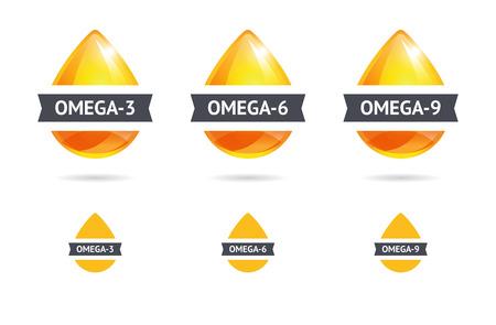 gotas brillantes de aceite. Ilustración de vector