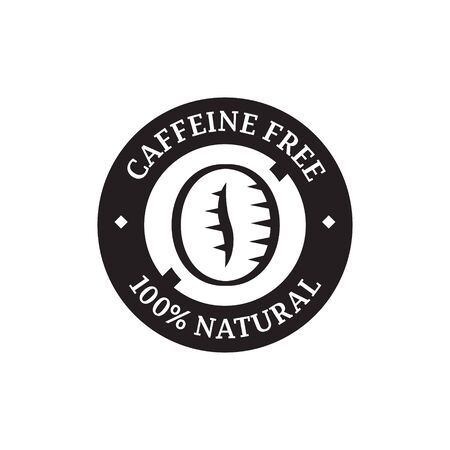 caffeine free: Caffeine free label for food packaging.