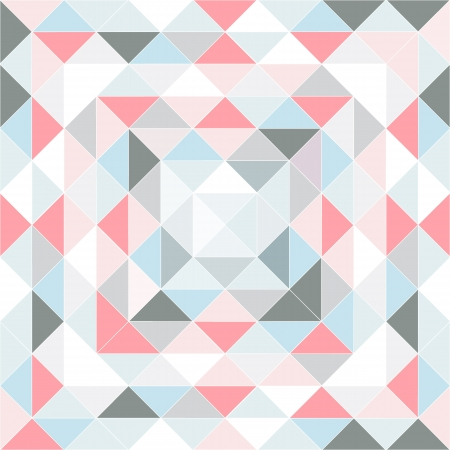 retro pattern of geometric shapes. pastel colored triangles from the center