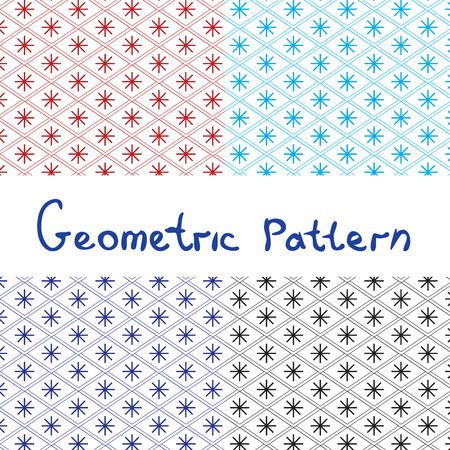 Japanese seamless geometric pattern. set, graphic, vector. Vector