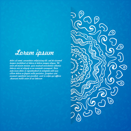 Abstract background of circular elements - A Place in the text - vector illustration for ethnic creative design projects. Mandala. Illustration