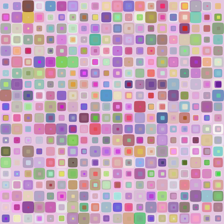 gamma: Abstract mosaic background of colored squares with rounded corners for design.  multicolor gamma. Vector.