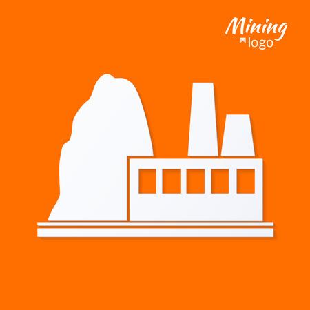 ferrous metals:  industrial plant ferrous metallurgy. stylized vector illustration.