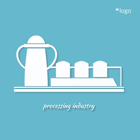 rectification:  industrial plant processing industry . stylized vector illustration. Illustration