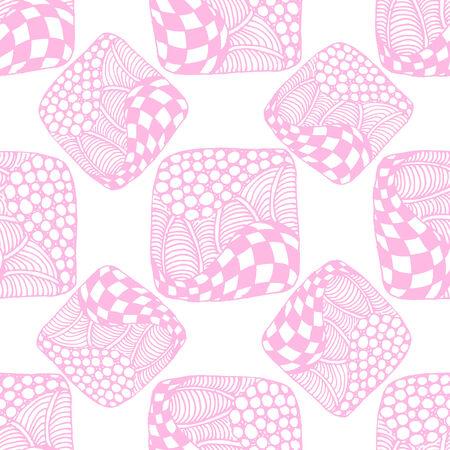 pink cell: Modelo incons�til abstracto de cuadrados de color rosa con los celulares, burbujas, c�rculos y ondas. Doodle estilo. Se puede utilizar para dise�ar las portadas de libros, cuadernos, CD, papel y otros.