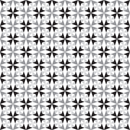 gray scale: Abstract background - geometric seamless pattern of interlaced triangles, diamonds and squares in gray scale. vector illustration.