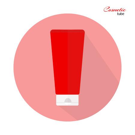 red tube: tubo rojo cosmético en color rosa - crema, gel, pasta de dientes, bálsamo, etc.