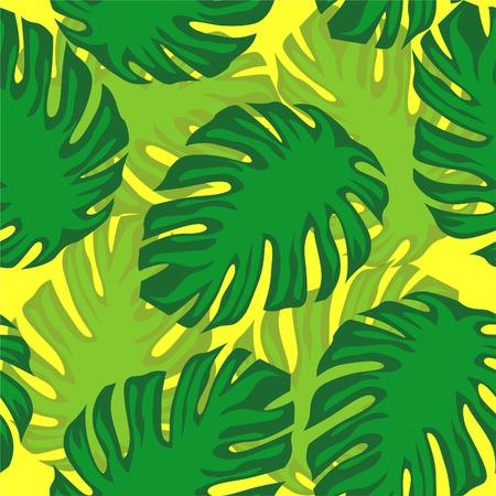 illustration monster leaf pattern  イラスト・ベクター素材