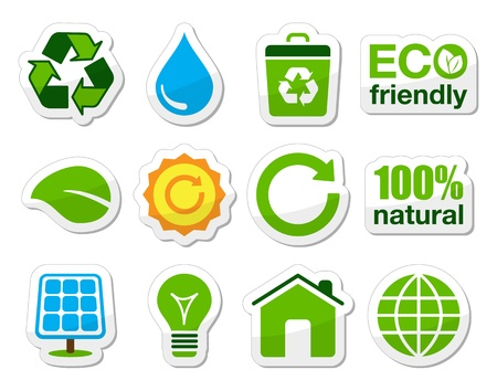 Green   eco icons  photo
