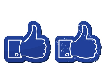 Facebook Like icons - modern and retro