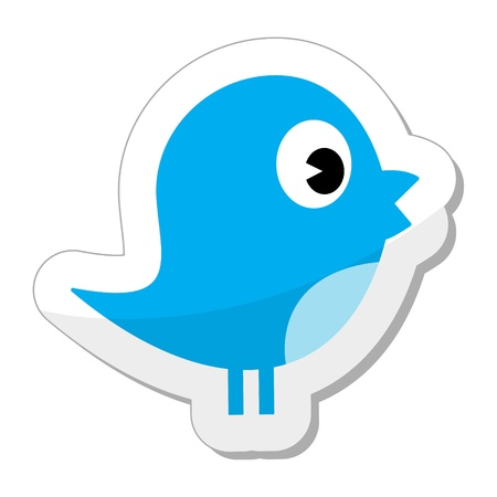 Tweet bird - social media icon Vector