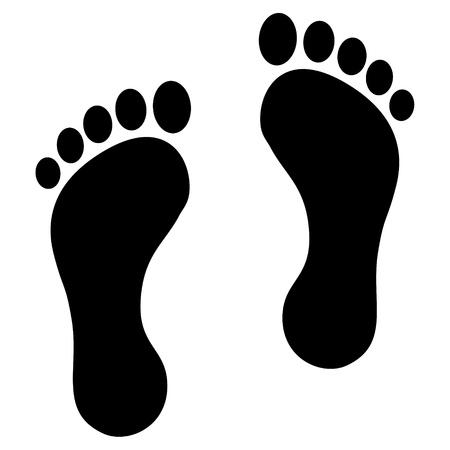 Footprint schwarz Vektorgrafik