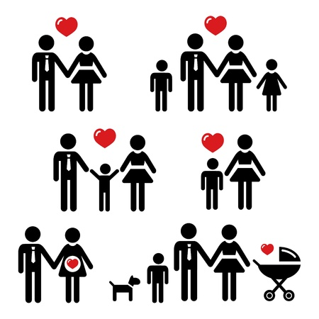 Parents Family people icon Vector