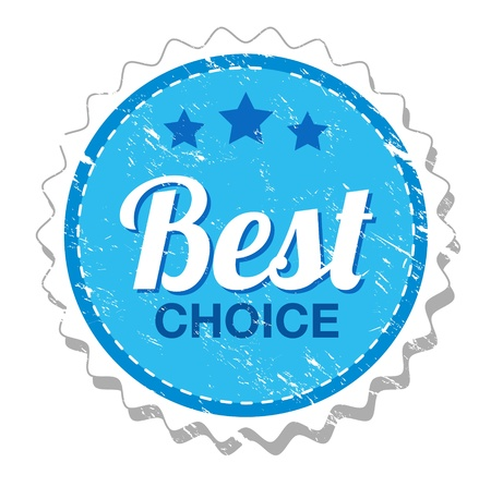 Best choice vintage label Vector