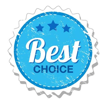Best choice vintage label Vector