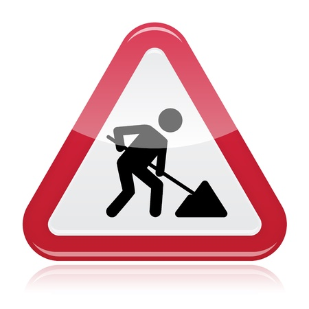 prohibition signs: Road works sign, under construction