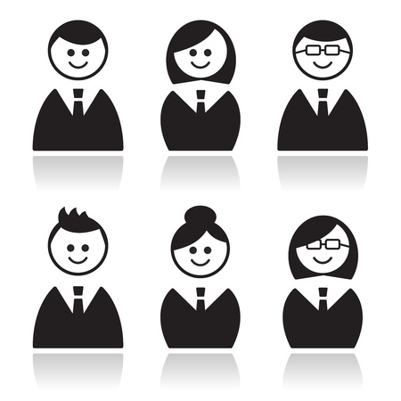 Business people icons set, avatars Vector