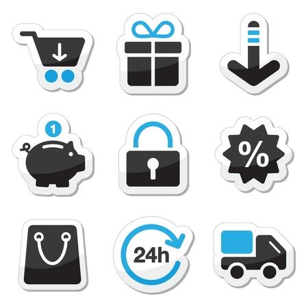 cuenta bancaria: Internet Web iconos conjunto - de compras