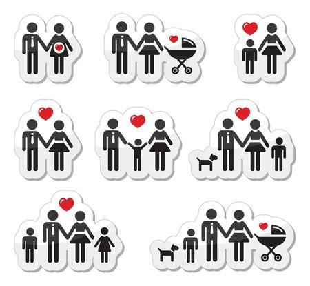 поколение: Люди иконы - семья, ребенок, беременная женщина, пары