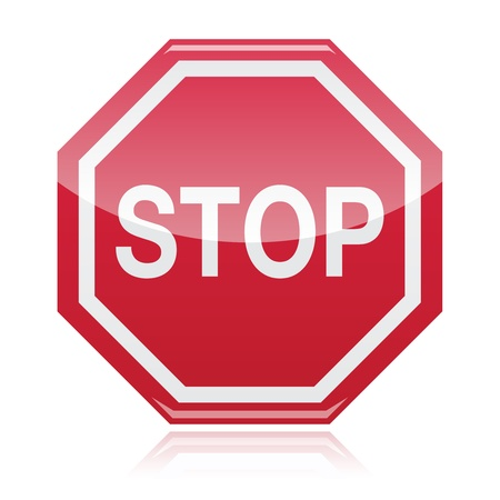 hazard sign: Stop warning road sign