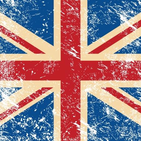 identidad cultural: Reino Unido retro bandera