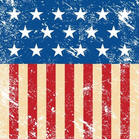 renuncia: EE.UU. retro bandera Vectores