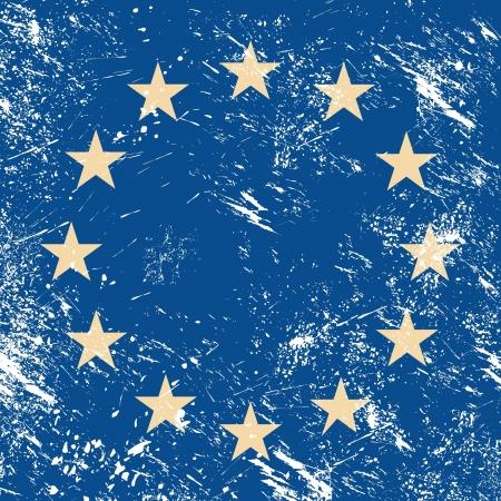 eu flag: EU retro flag