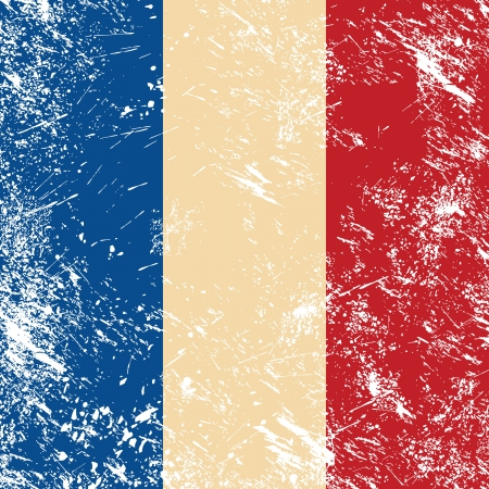 France retro flag Stock Vector - 14557197
