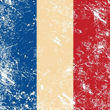 France retro flag Stock Vector - 14557197