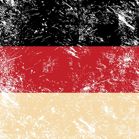 Germany retro flag Vector