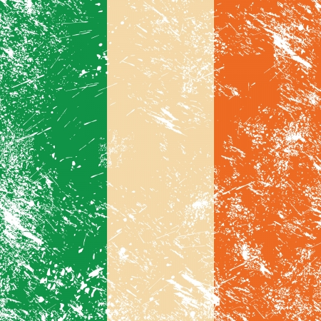 Ireland retro flag Stock Vector - 14557203