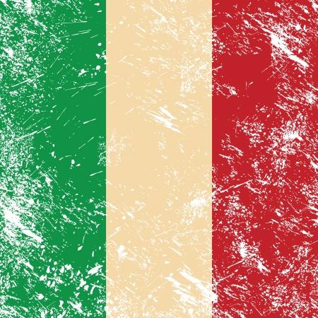 cultura italiana: Italia retro bandiera