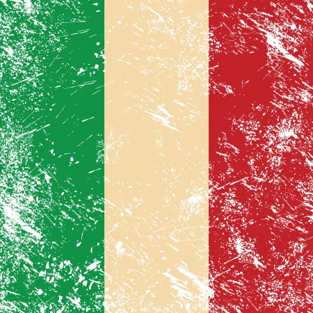 italian politics: Italy retro flag Illustration