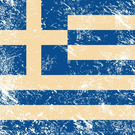 Greece retro flag Vector