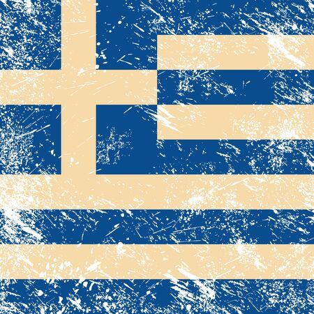 Greece retro flag Vector